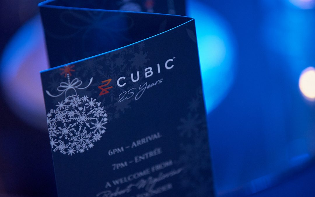 Cubic 25 Years of Excellence at Christmas 2019